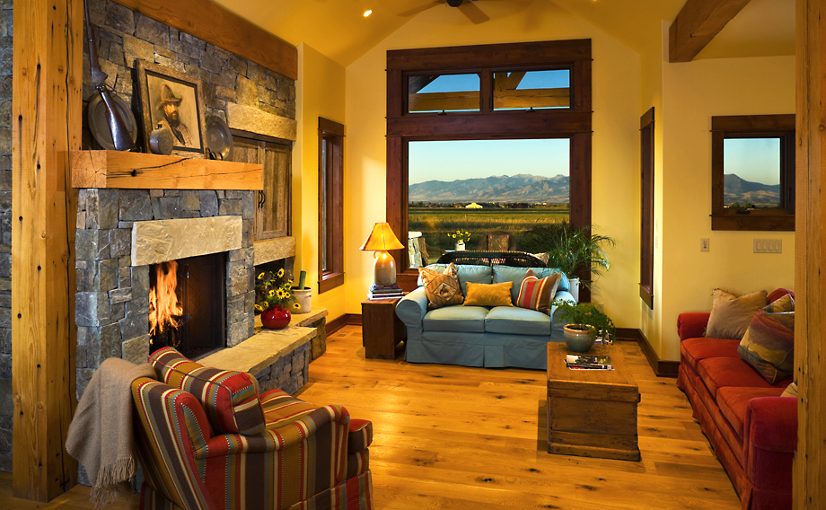 Dovetail Construction, Custom Montana Homes, Contractor, Hyalite View Great Room