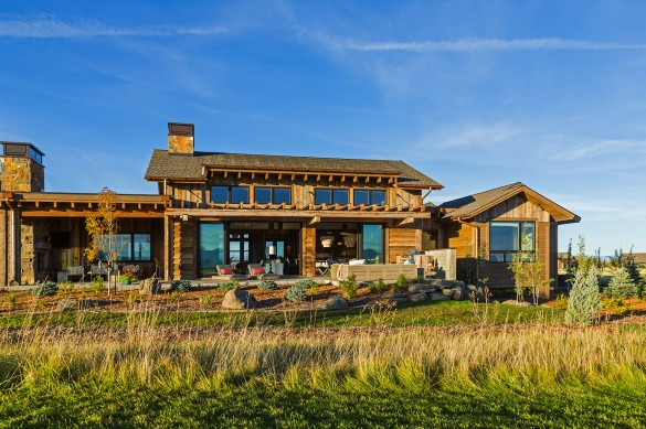 clean lines and modern use of rustic materials make this bozeman motnana home stand out
