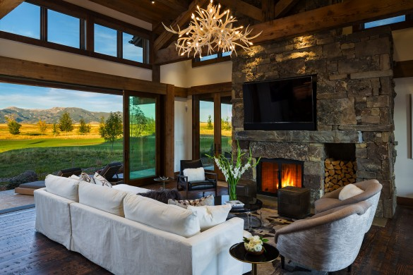 intricate wood construction and vintage materials meet modern in this bozeman montana home