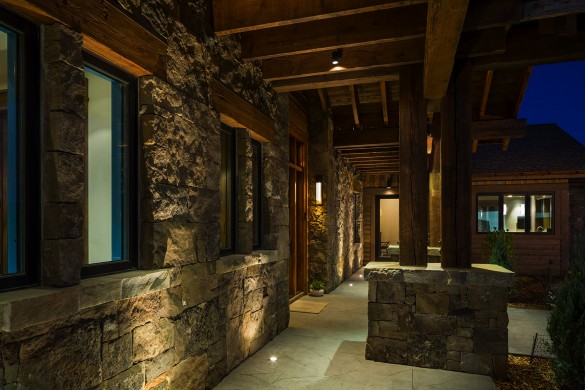 stacked rock exterior bring a sense of warmth to this bozeman montana home